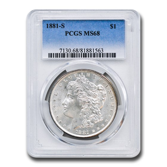 1881-S Morgan Dollar MS-68 PCGS