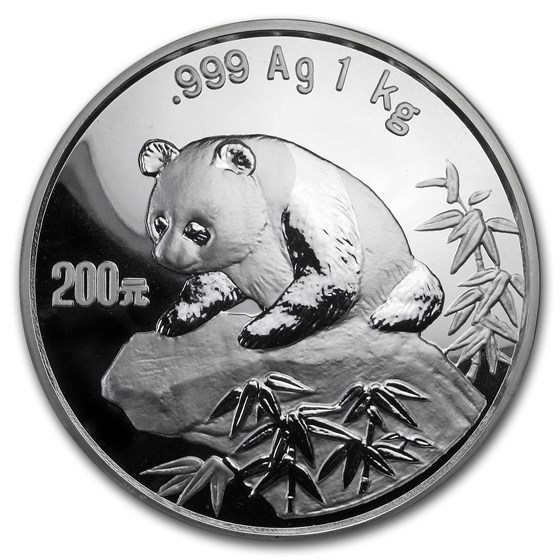 1999 China 1 kilo Silver Panda Proof (Capsule Only)