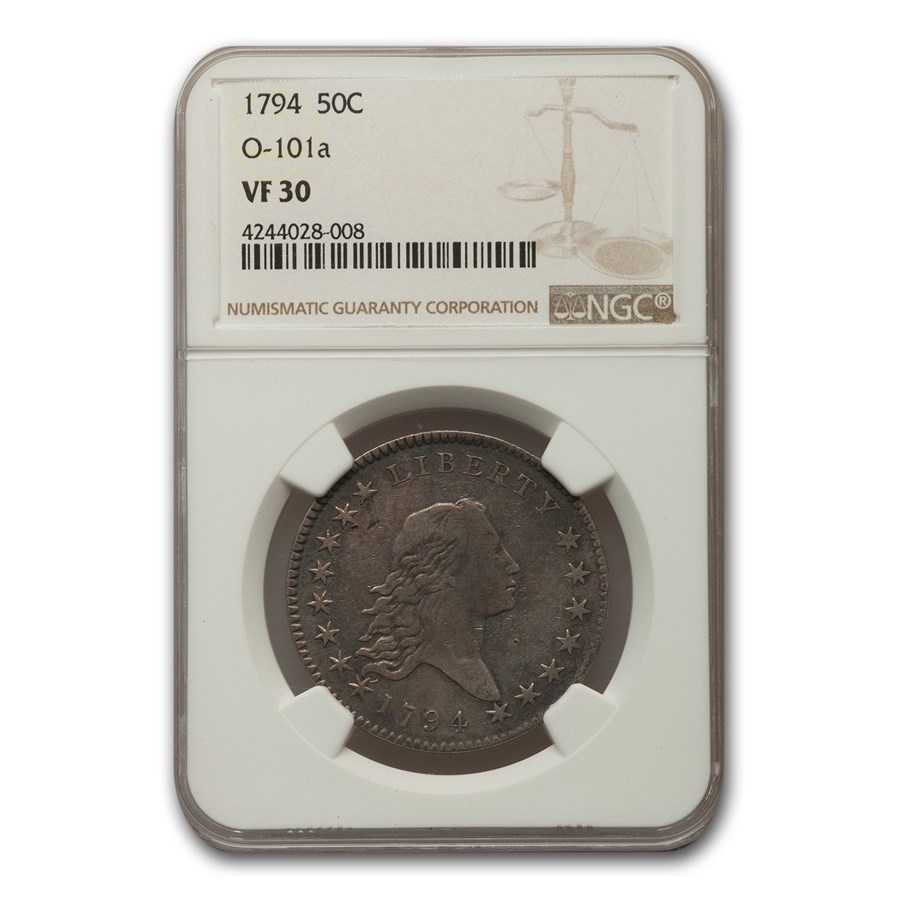 1794 Flowing Hair Half Dollar VF-30 NGC (O-101a)