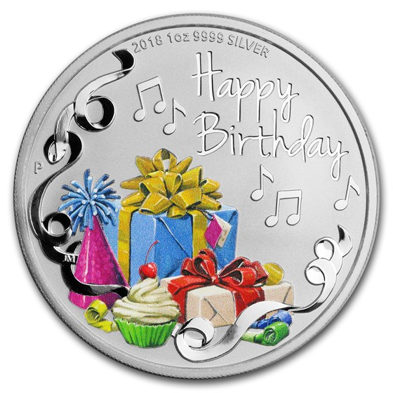 2018 Australia 1 oz Silver Happy Birthday Proof