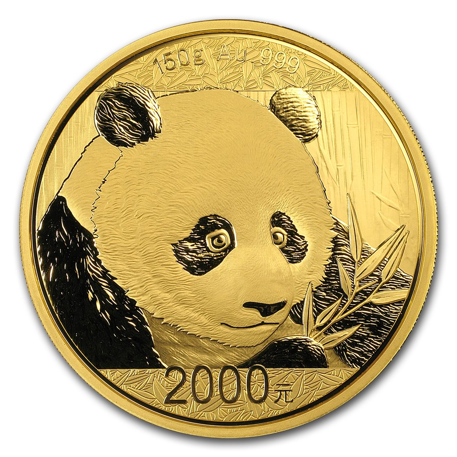 2018 China 150 gram Gold Panda Proof (w/Box & COA)