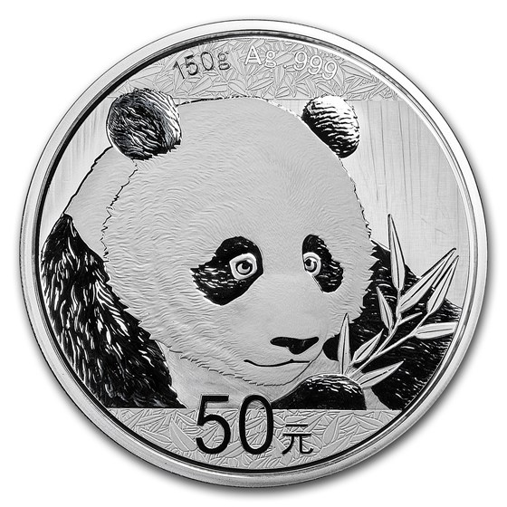 2018 China 150 gram Silver Panda Proof (w/Box & COA)