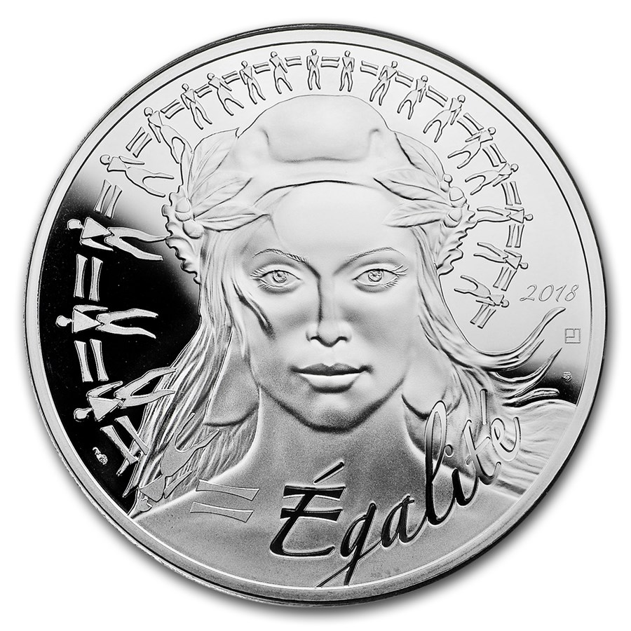 2018 France Silver €100 Marianne Proof (Face Value Coin)