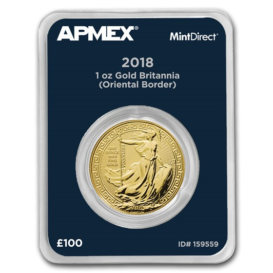 2018 GB 1 oz Gold Britannia Oriental Border (MintDirect®)