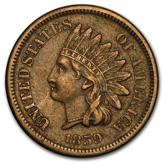 1859 Indian Head Cent VF