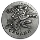 2018 Canada 1 oz Ag Ancient Canada: Gorgosaurus (Antique Finish)