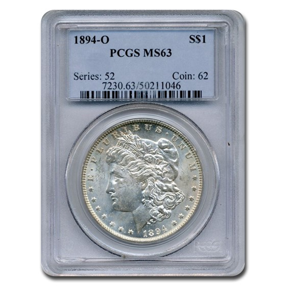 1894-O Morgan Dollar MS-63 PCGS