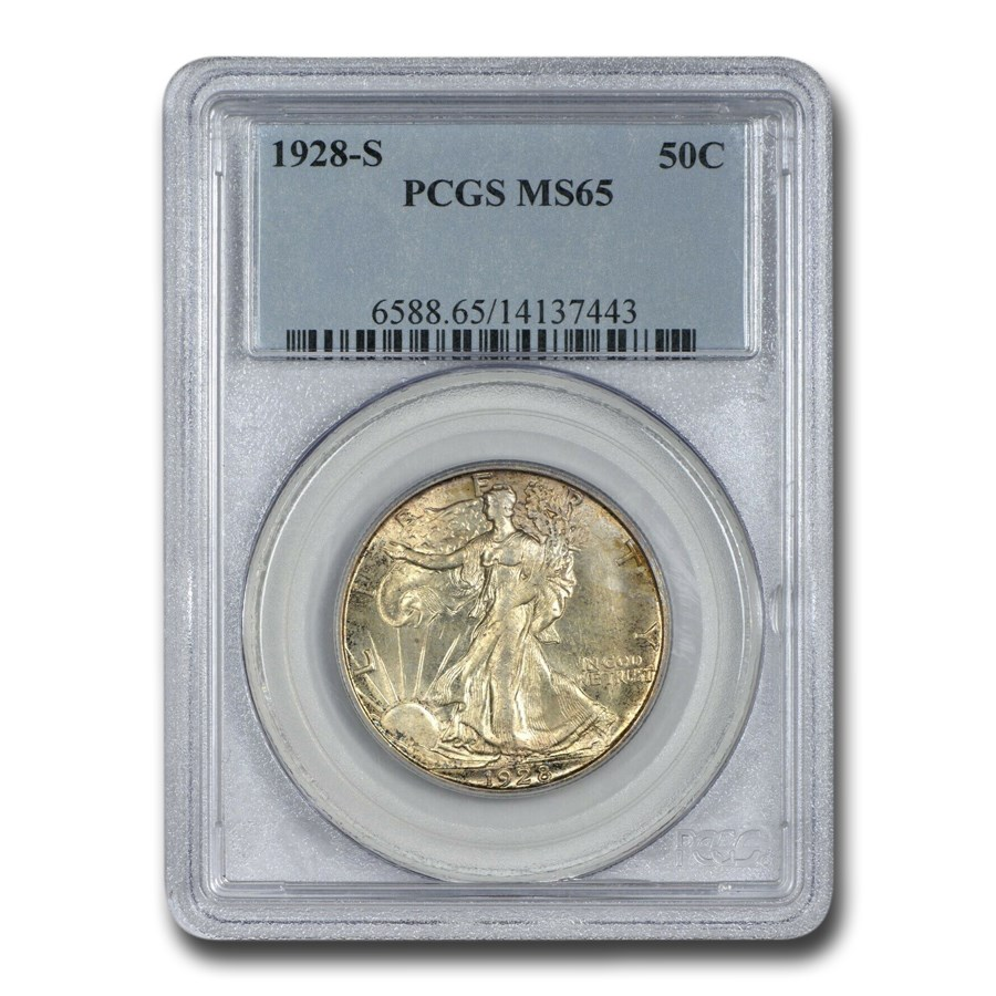 1928-S Walking Liberty Half Dollar MS-65 PCGS