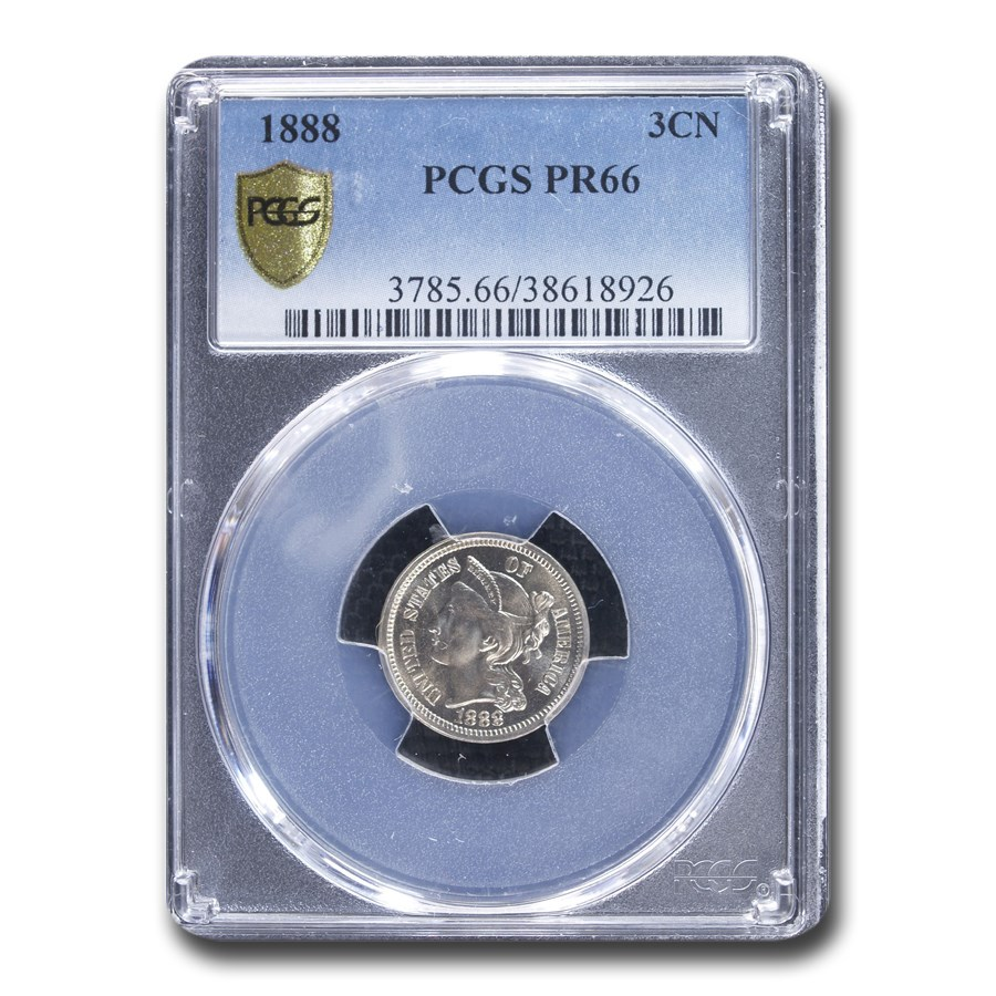 1888 Three Cent Nickel PR-66 PCGS