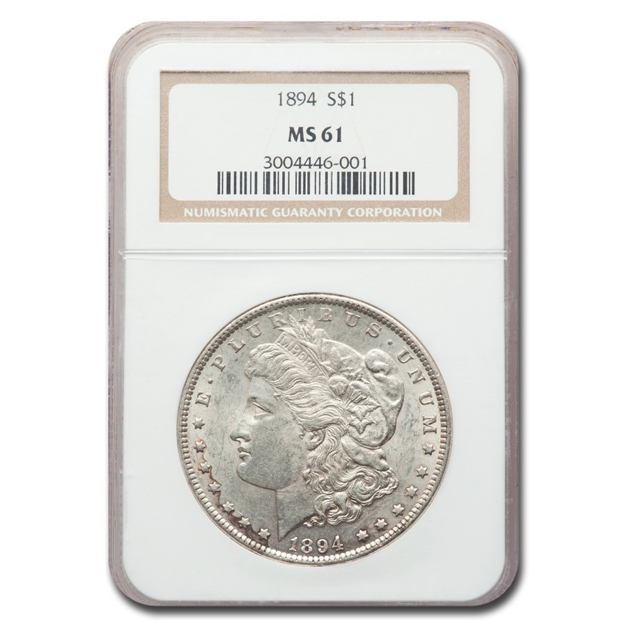 1894 Morgan Dollar MS-61 NGC