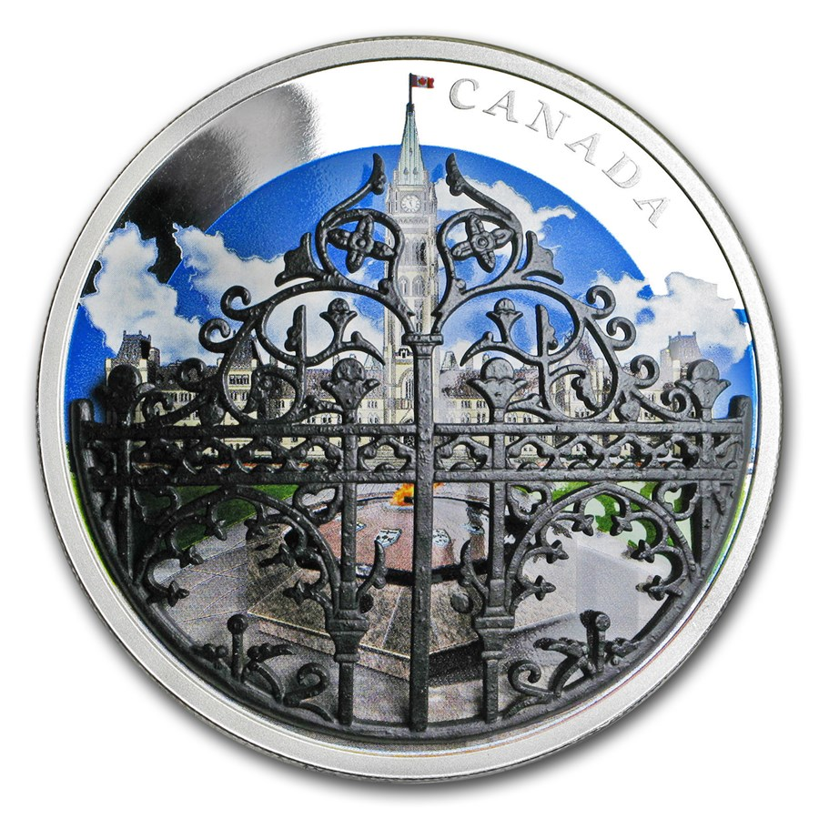 2018 Canada 2 oz Silver $30 Queen's Gates