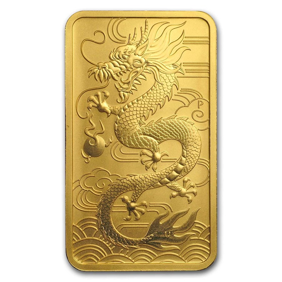 2018 Australia 1 oz Gold Dragon BU