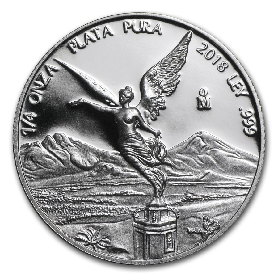 2018 Mexico 1/4 oz Silver Libertad Proof (In Capsule)