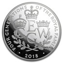 2018 Great Britain 5 oz Proof Silver Four Generations