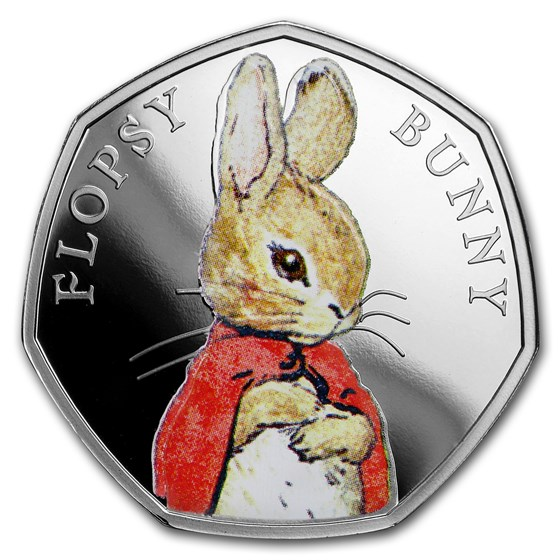 2018 Great Britain Silver 50p Beatrix Potter Proof (Flopsy Bunny)