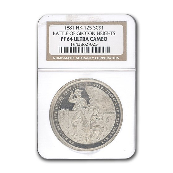 1881 Battle of Groton Heights PF-64 NGC (HK-125)