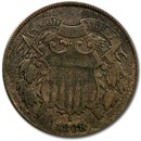 1868 Two Cent Piece Fine