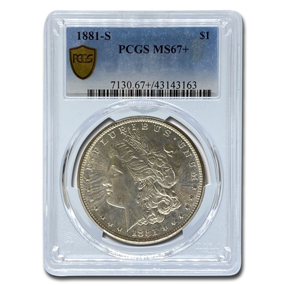 1881-S Morgan Dollar MS-67+ PCGS