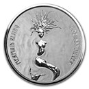 2018 Fiji 1 oz Silver Mermaid Rising BU