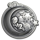 2018 Cook Islands 1 oz Antique Silver Lullaby Dreaming Boy