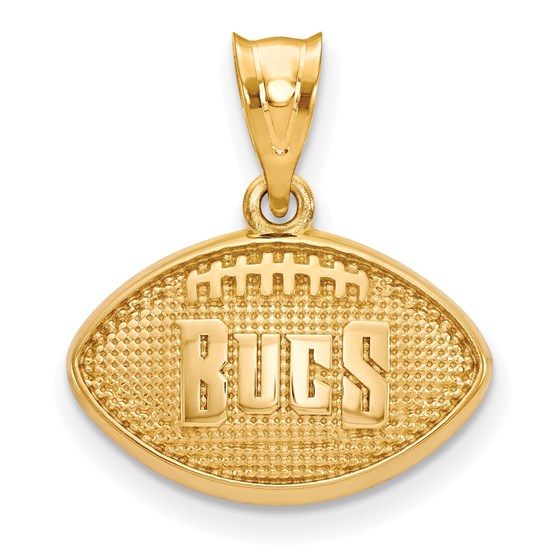 Sterling Silver Gold-plated Tampa Bay Buccaneers Football Pendant