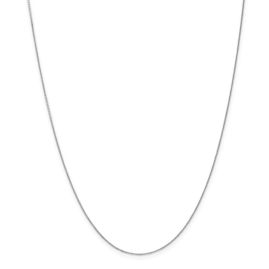 14k White Gold .65 mm Diamond-cut Cable Chain Necklace - 20 in.