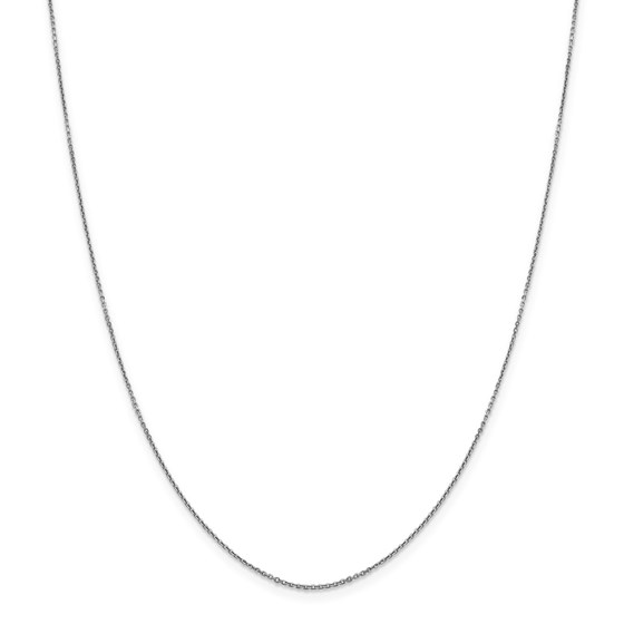 14k White Gold .90 mm Diamond-cut Cable Chain Necklace - 18 in.