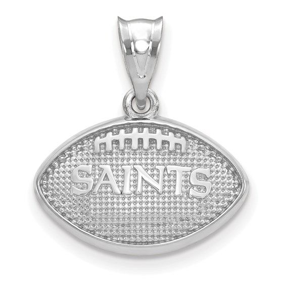 Sterling Silver New Orleans Saints Football with Logo Pendant