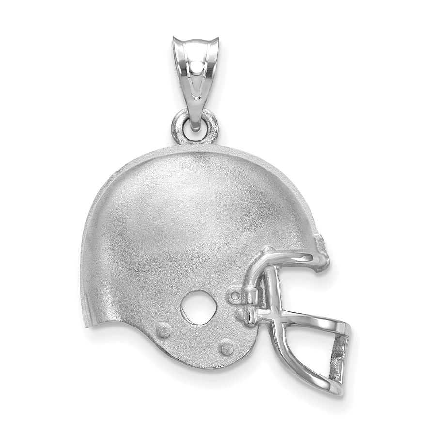 Sterling Silver Cleveland Browns Football Helmet Logo Pendant