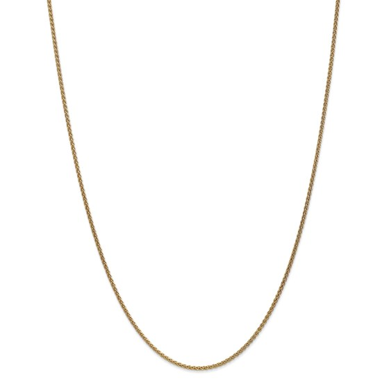 14k Gold 1.65 mm Solid Polished Spiga Chain Necklace - 18 in.