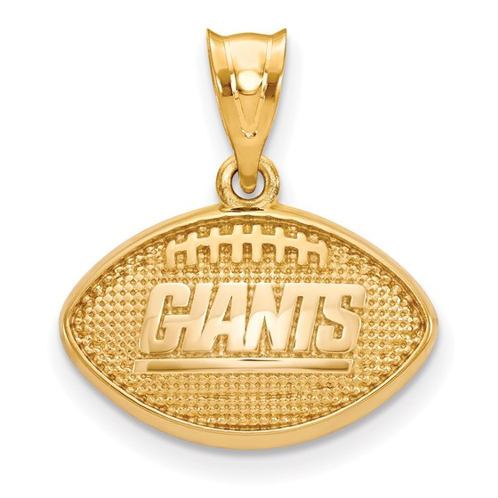 Sterling Silver Gold-plated New York Giants Football Pendant
