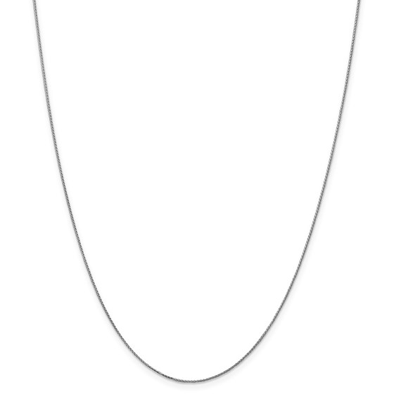 14k White Gold 0.65 mm Spiga Pendant Chain Necklace - 18 in.