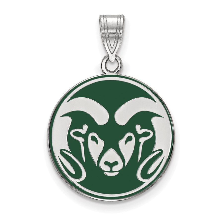 Sterling Silver Colorado State University Enameled Pendant