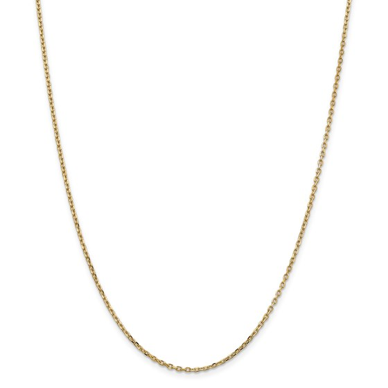 14k Gold 1.8 mm Diamond-cut Cable Chain Necklace - 24 in.