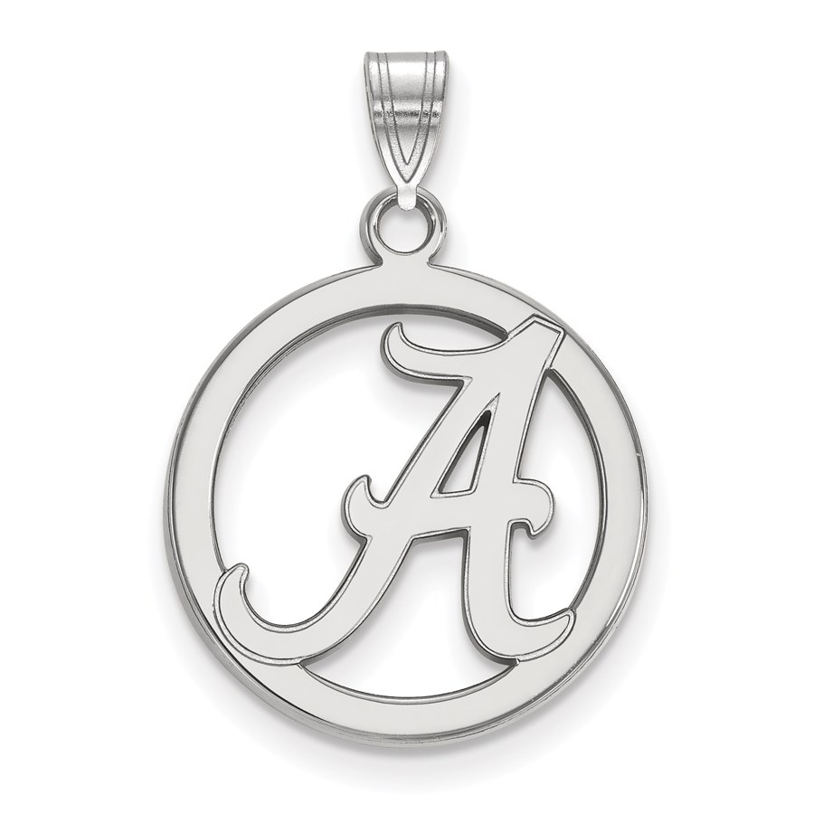 Sterling Silver University of Alabama Md Circle Pendant