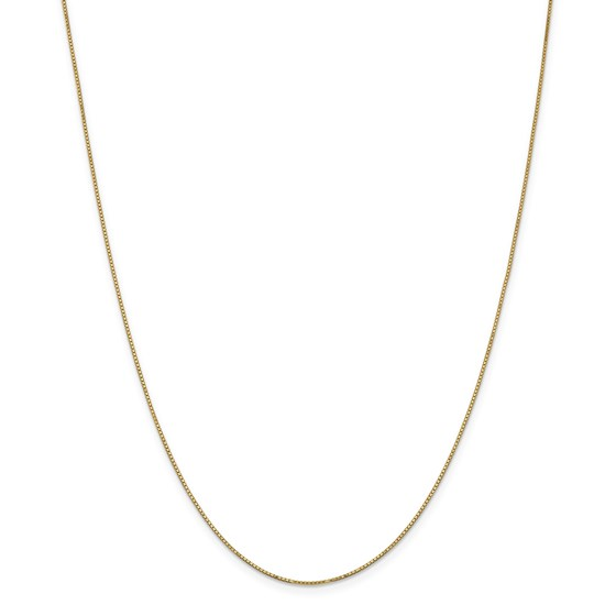 14k Gold .9 mm Box Chain w/Spring Ring Necklace - 24 in.