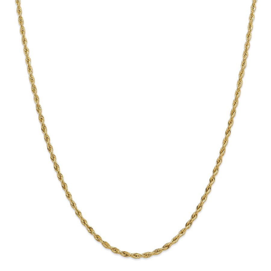 14k Goldy 3.0 mm Semi-Solid Rope Chain Necklace - 24 in.