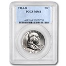 1963-D Franklin Half Dollar MS-64 PCGS