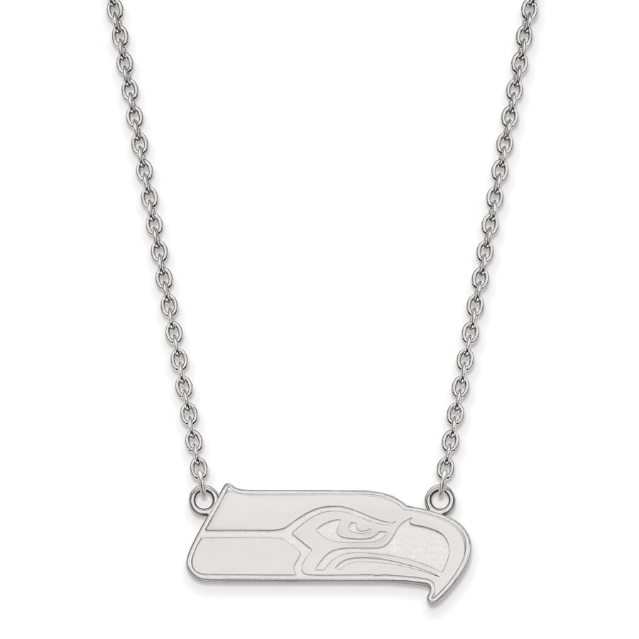 Sterling Silver Seattle Seahawks Large Pendant Necklace