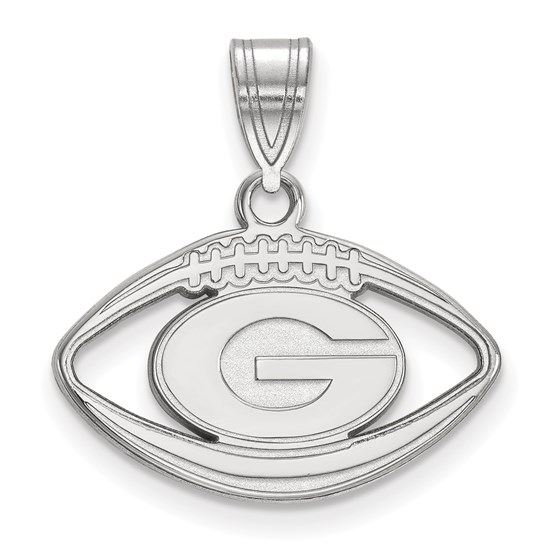 Sterling Silver University of Georgia Football Pendant