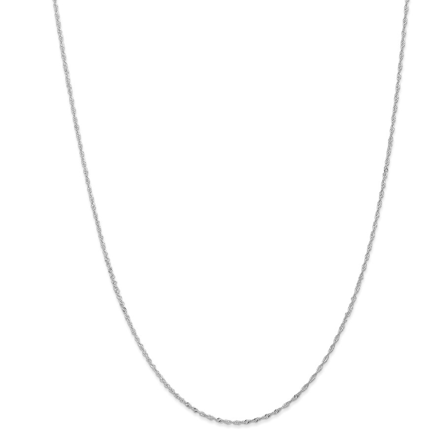 14k White Gold 1.1 mm Singapore Chain Necklace - 20 in.