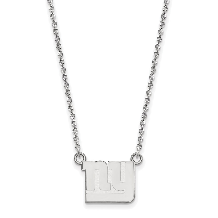 Sterling Silver New York Giants Small Pendant Necklace