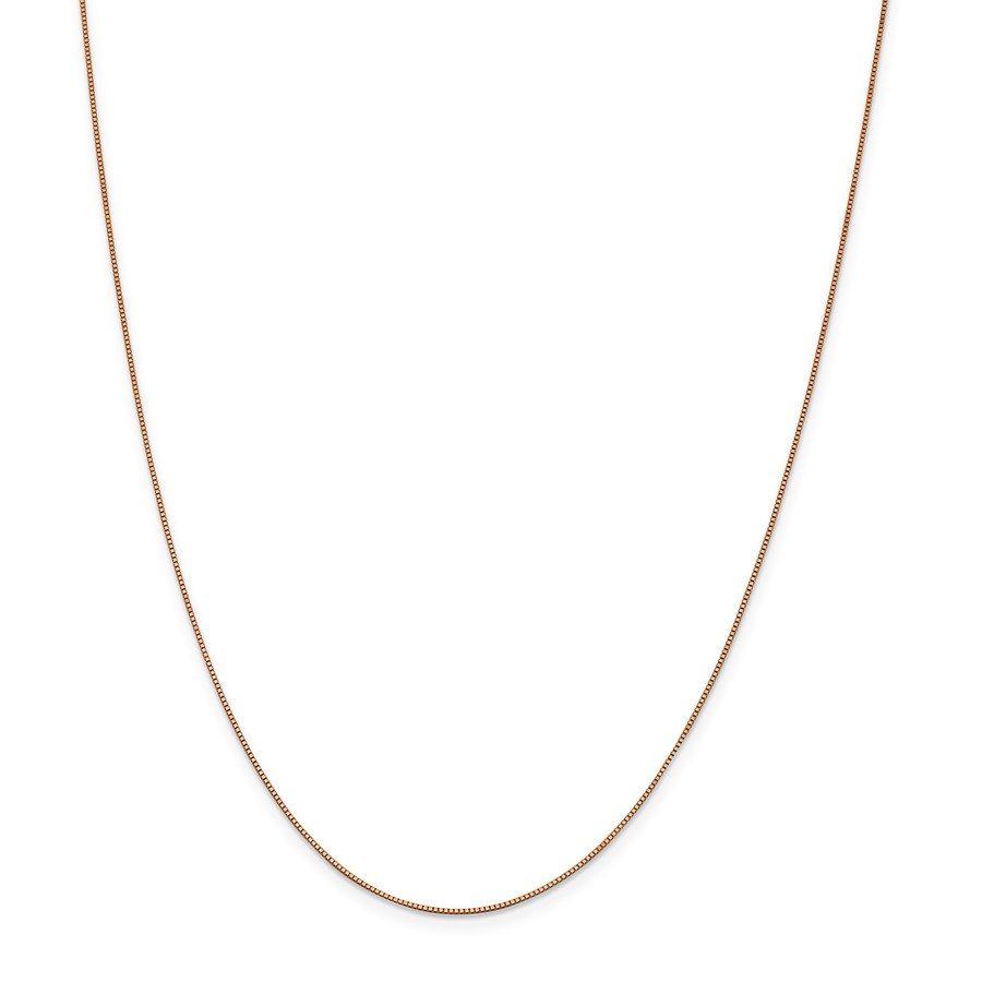 14k Rose Gold .70 mm Box Link Chain Necklace - 18 in.