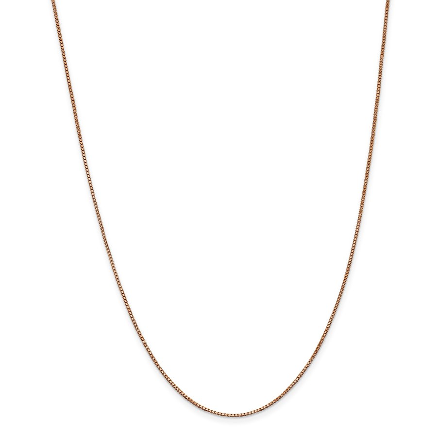 14k Rose Gold 1.0 mm Box Link Chain Necklace - 18 in.
