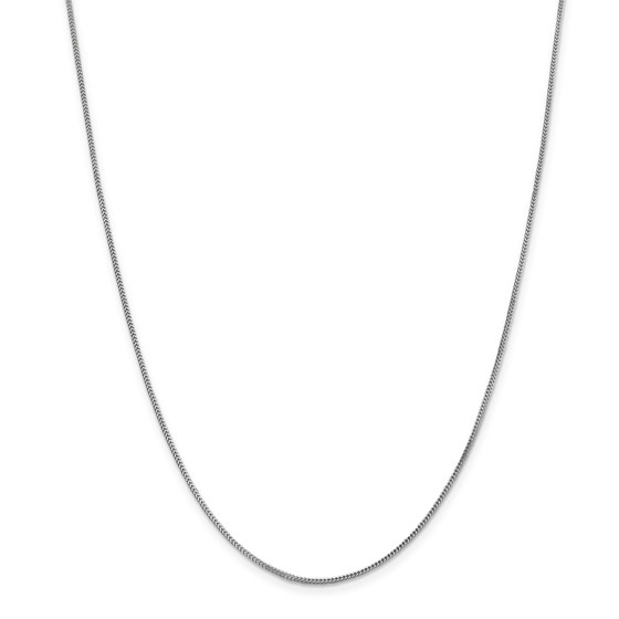 14k White Gold .90 mm Franco Chain Necklace - 18 in.