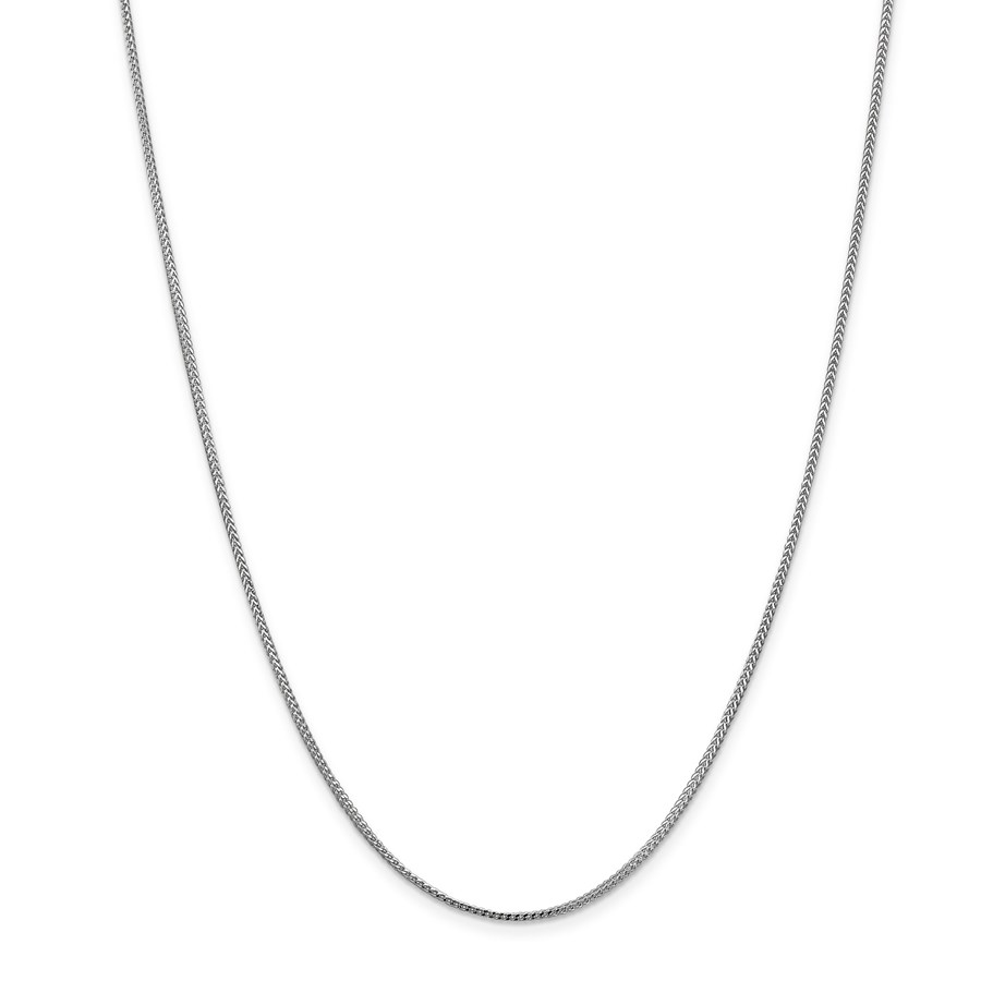 14k White Gold 1.0 mm Franco Chain Necklace - 18 in.