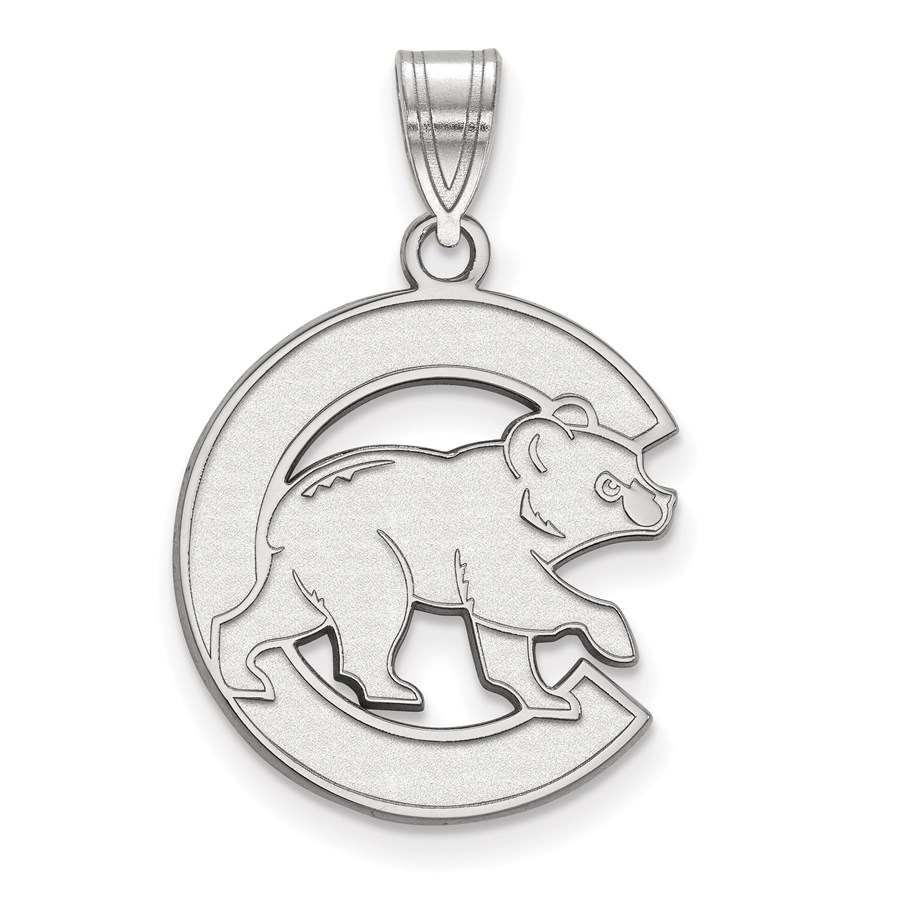 Sterling Silver MLB Chicago Cubs 25 mm Large Pendant