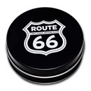 Gift Box Tin - 1 oz Silver Shield Shaped Round: Route 66