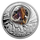 2018 Canada 1 oz Silver $20 Frozen In Ice: Woolly Mammoth