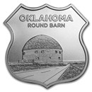 1 oz Silver - Icons of Route 66 Shield (Oklahoma Round Barn)